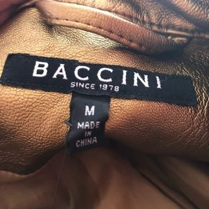 Baccini Jackets & Coats - Trendy gold faux leather jacket